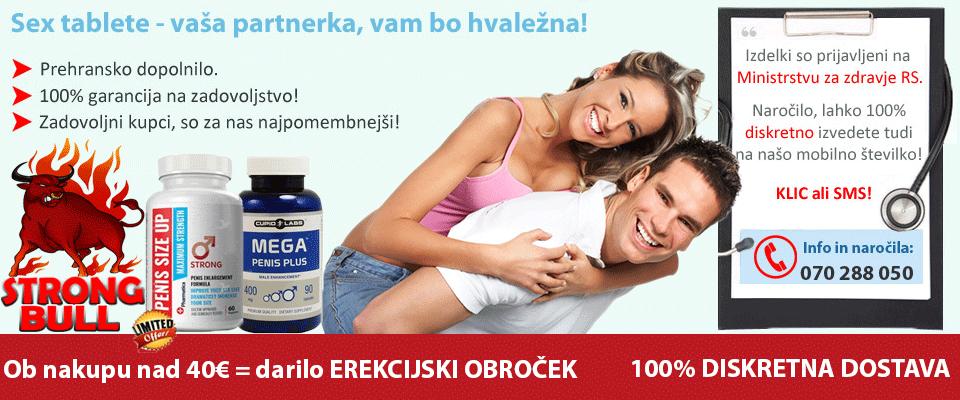 Sex tablete, obroček za tršo erekcijo, naravna viagra in večji penis